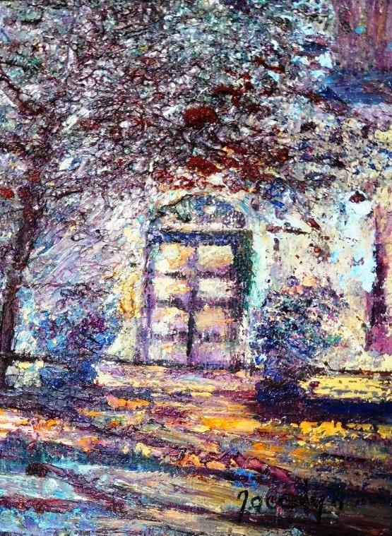 113a Jocelyn Boyley, Sunlight & Shadow, Dorp St.,Stellenbosch, Oil on canvas