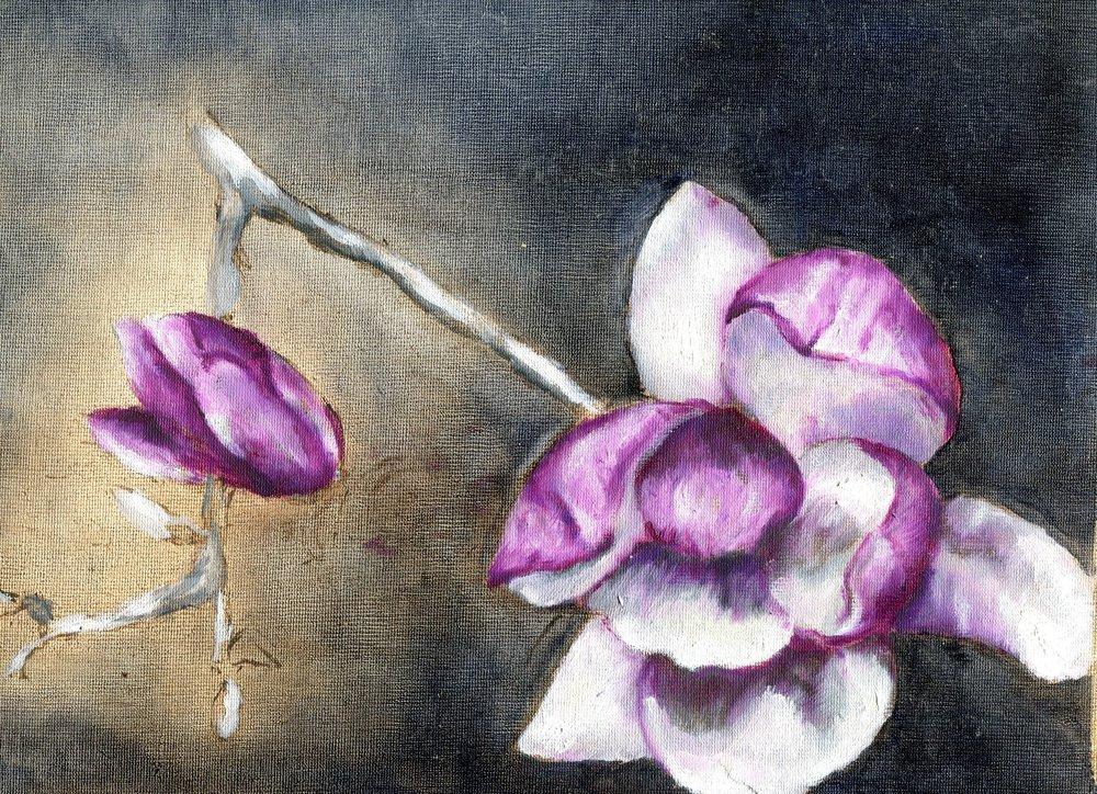 110a Ros McKenzie,  Magnolia, Oil on canvas paper