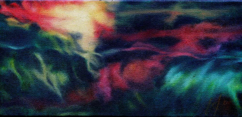 63a Elise Leibnitz,  Flare, Oil on canvas block