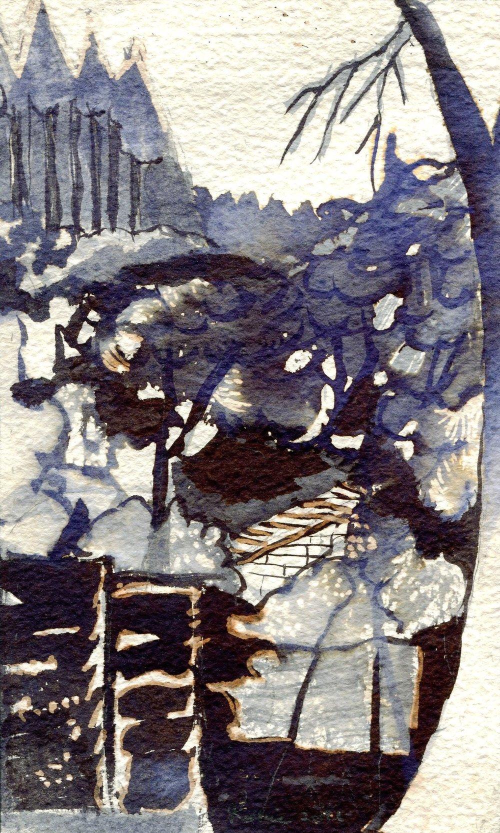 92b Kobie Venter, Blackridge 2, Ink & bleach on paper