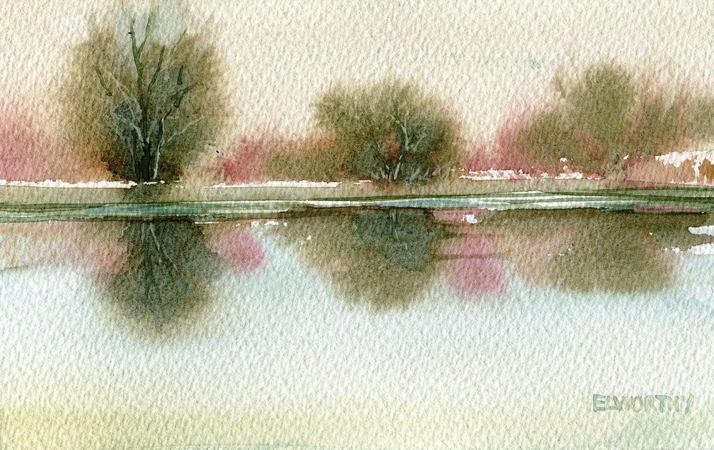 32a Jean Elworthy,  Watersedge, Watercolour on paper