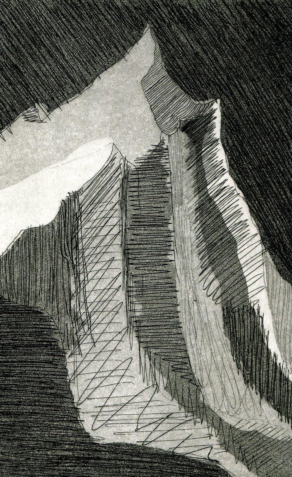 96b Eloff Pretorius, Molar 3, Etching on paper