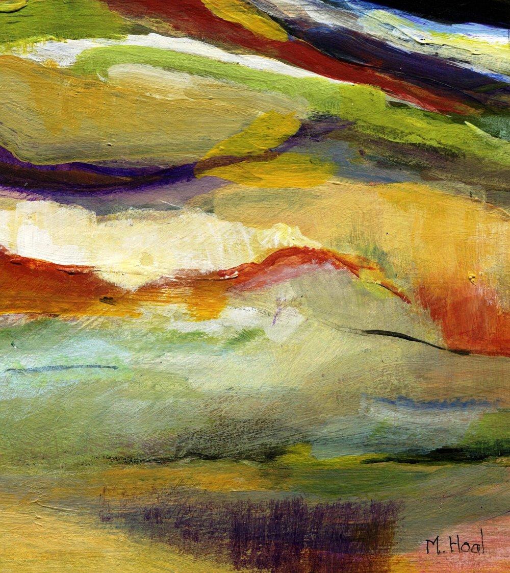 43a Helen Margaret Hoal, Landscape, Acrylic on card