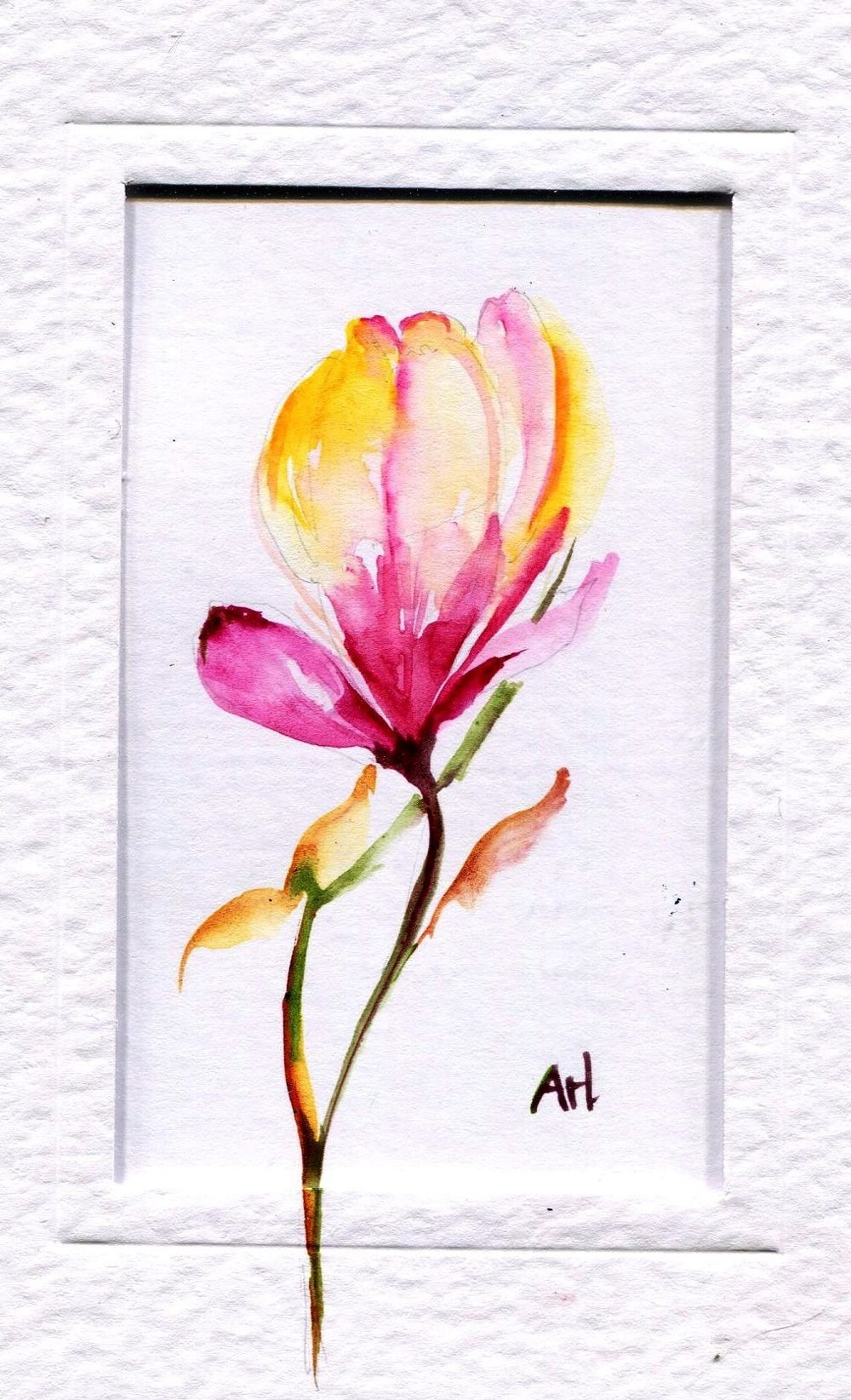 23a Arlene Welsh, Spring Time, Watercolour on card