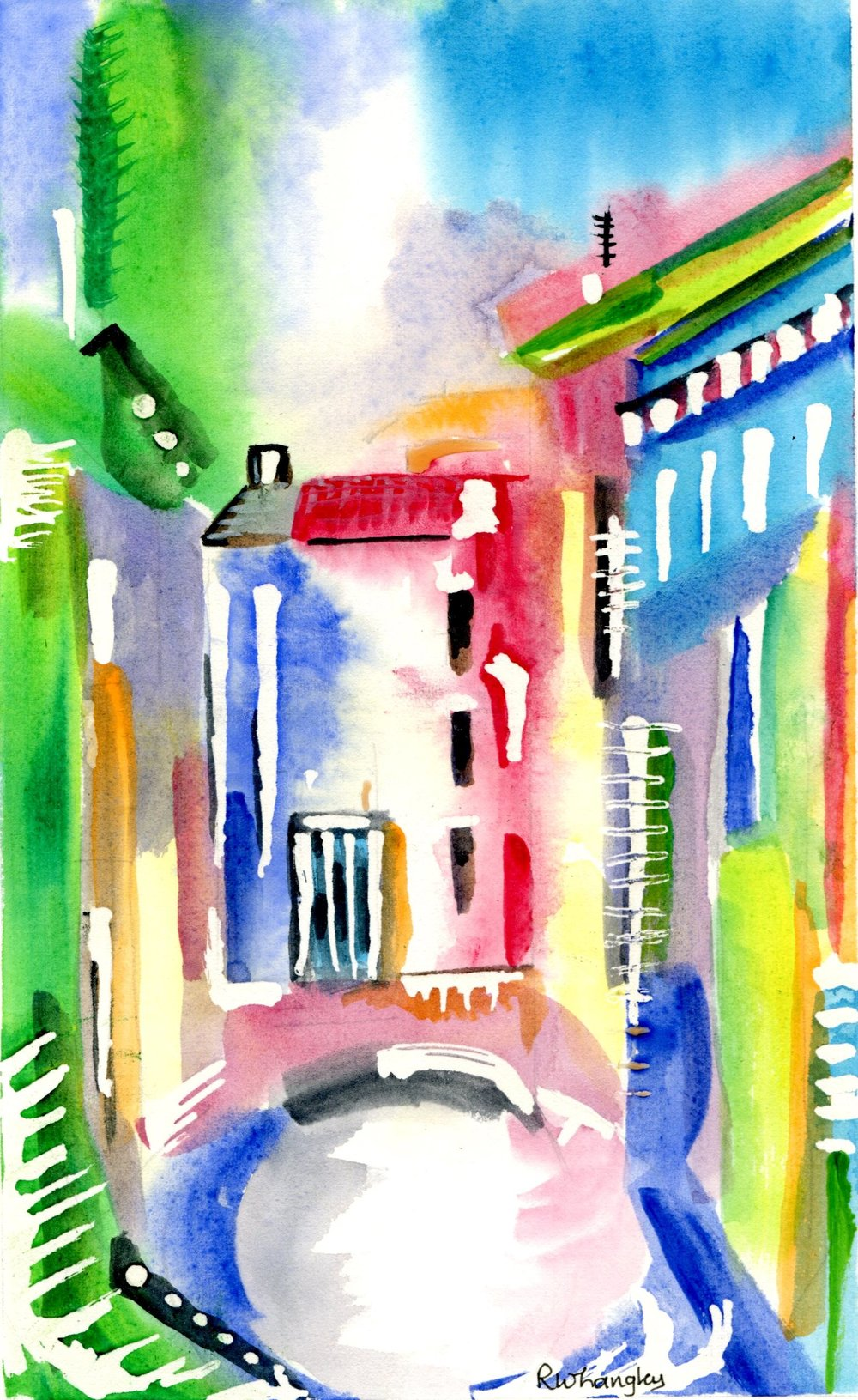 8B ROBERT LANGLEY, DREAMS, WATERCOLOUR ON PAPER