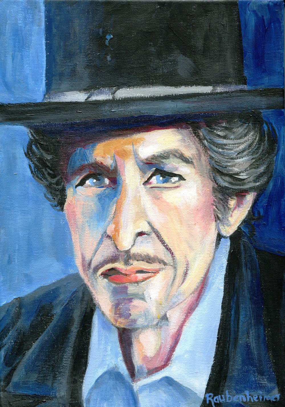 12C NARDI ANNE RAUBENHEIMER, DYLAN: POET LAUREATE, ACRYLIC ON CANVAS