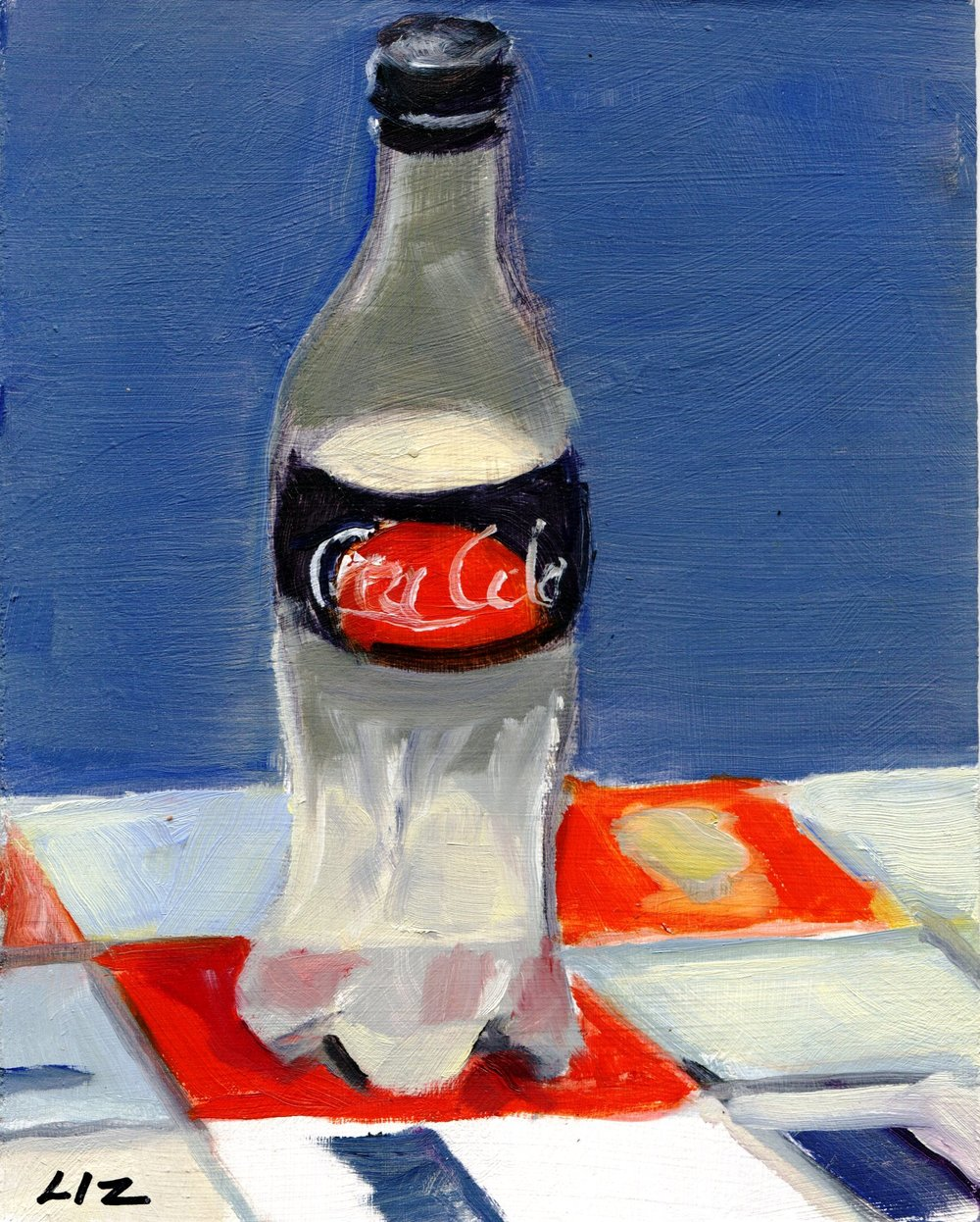 20B ELIZABETH SPEIGHT, COCA-COLA BOTTLE, OIL ON BOARD