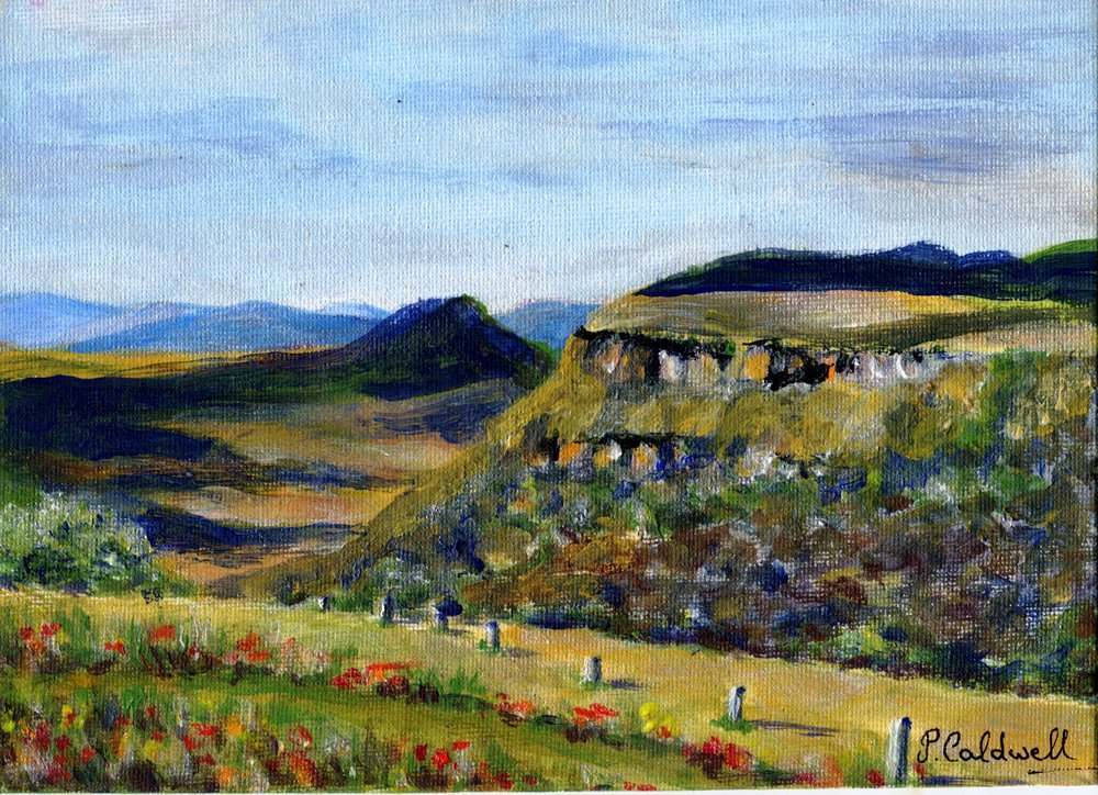 21C PAT CALDWELL, UMGENI VALLEY NEAR HILTON COLLEGE, ACRYLIC ON CANVAS PANEL