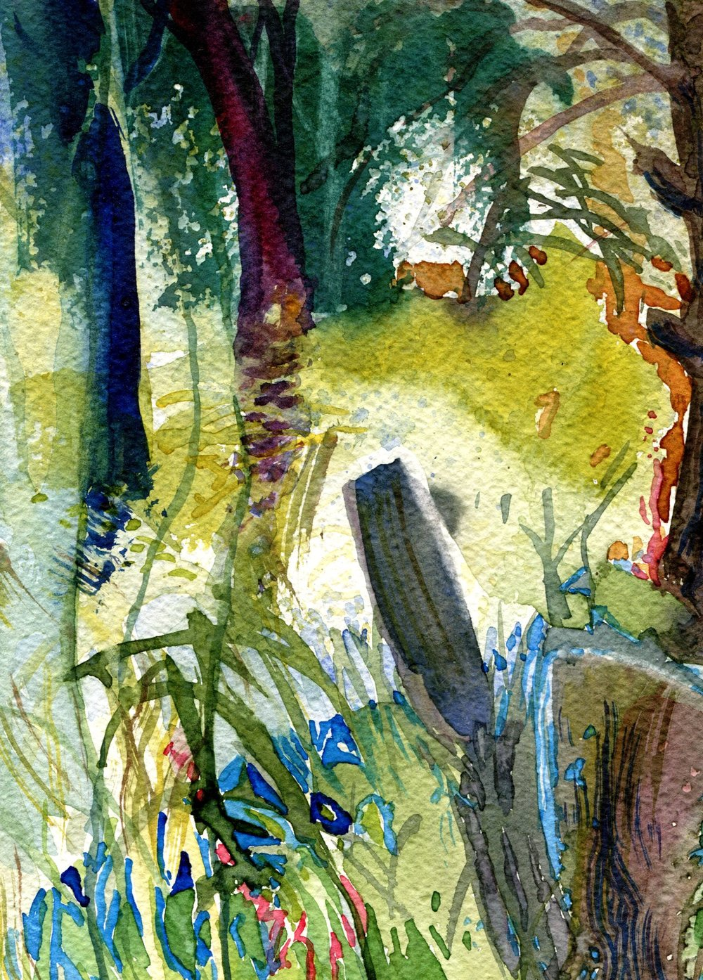 36A HERMINE SPIES-COLEMAN, TREES, WATERCOLOUR ON PAPER