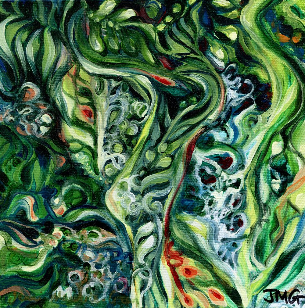 74A JENNI MAURICE-GREEN, MOTHER-IN-LAW'S TONGUE, OIL ON CANVAS