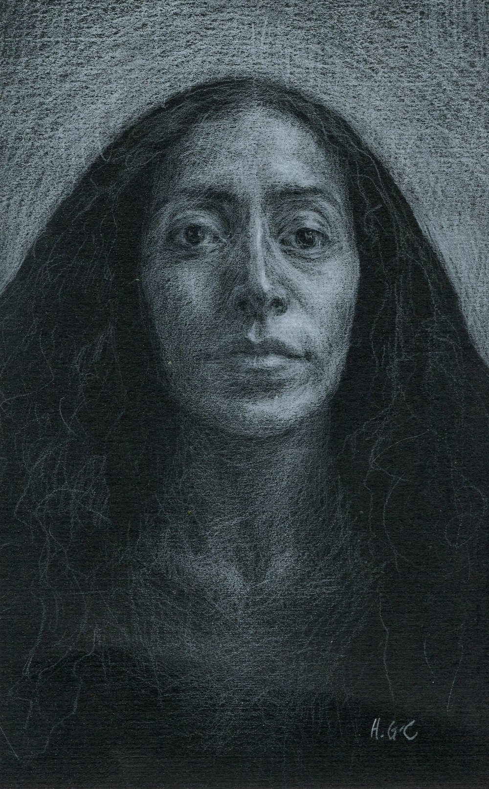 50C HEATHER GOURLAY-CONYNGHAM, ALEJANDRA, CHALK PASTEL ON PAPER