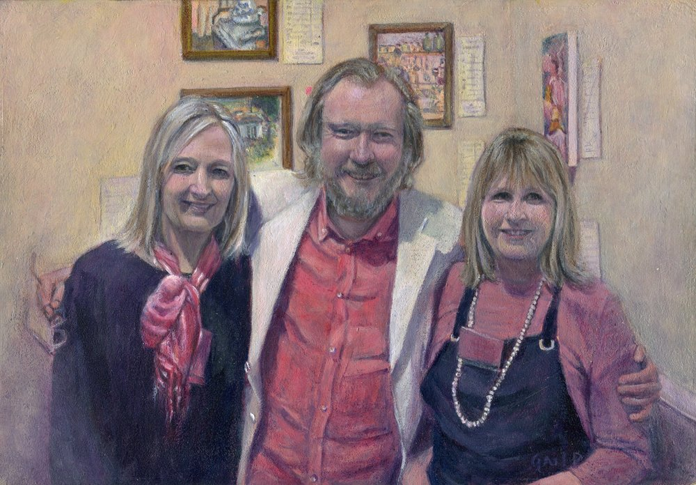 53C GAIL PECKHAM, FABULOUS FRIENDS, ACRYLIC ON BOARD