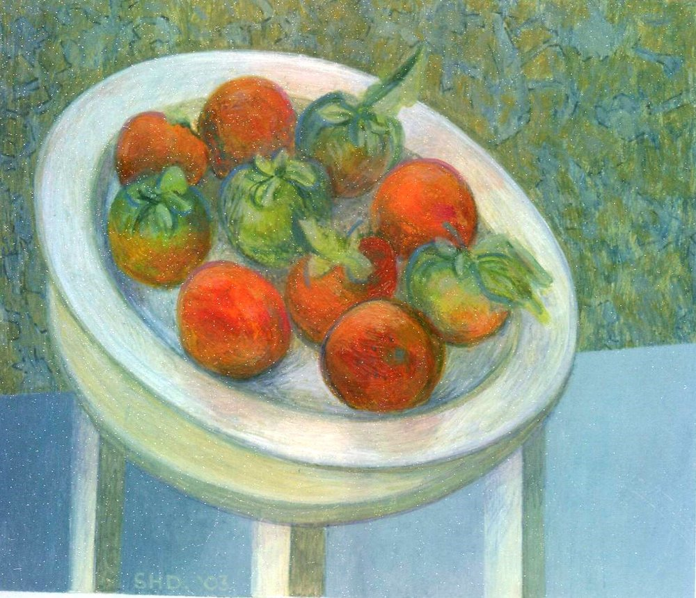 92B SUSAN HELM DAVIES, STILL LIFE, WATERCOLOUR & GOUACHE ON CARD