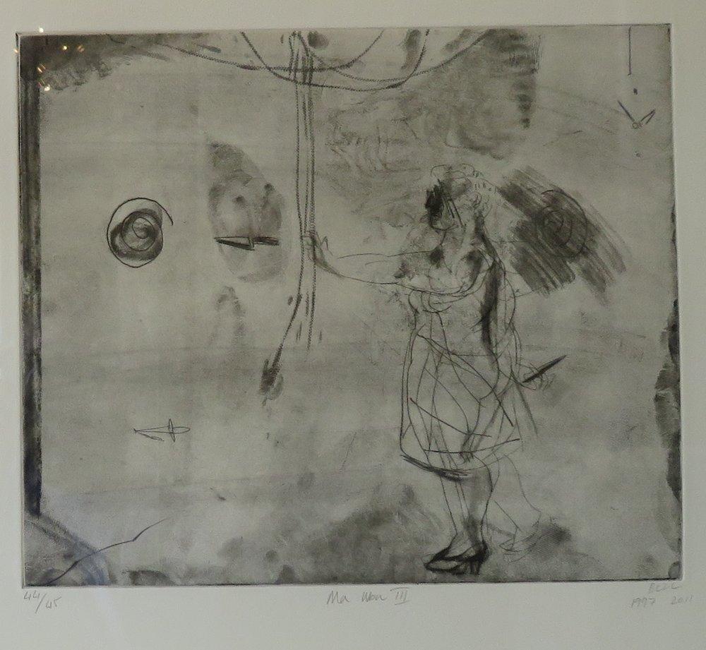 101C DEBORAH BELL, MA UBU III, ETCHING ON PAPER