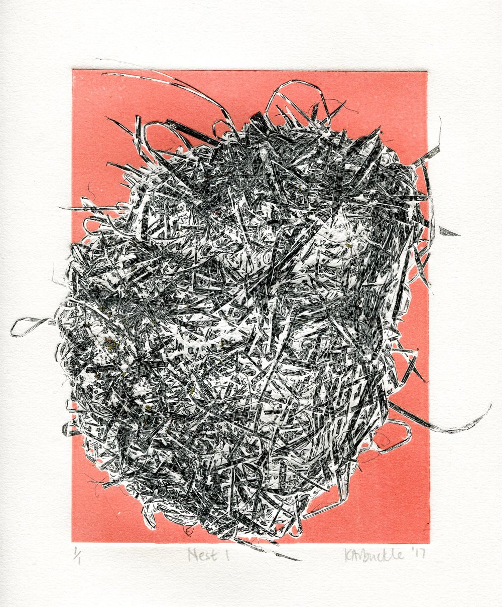 109A KATHY ARBUCKLE, NEST 1, MONOTYPE ON PAPER