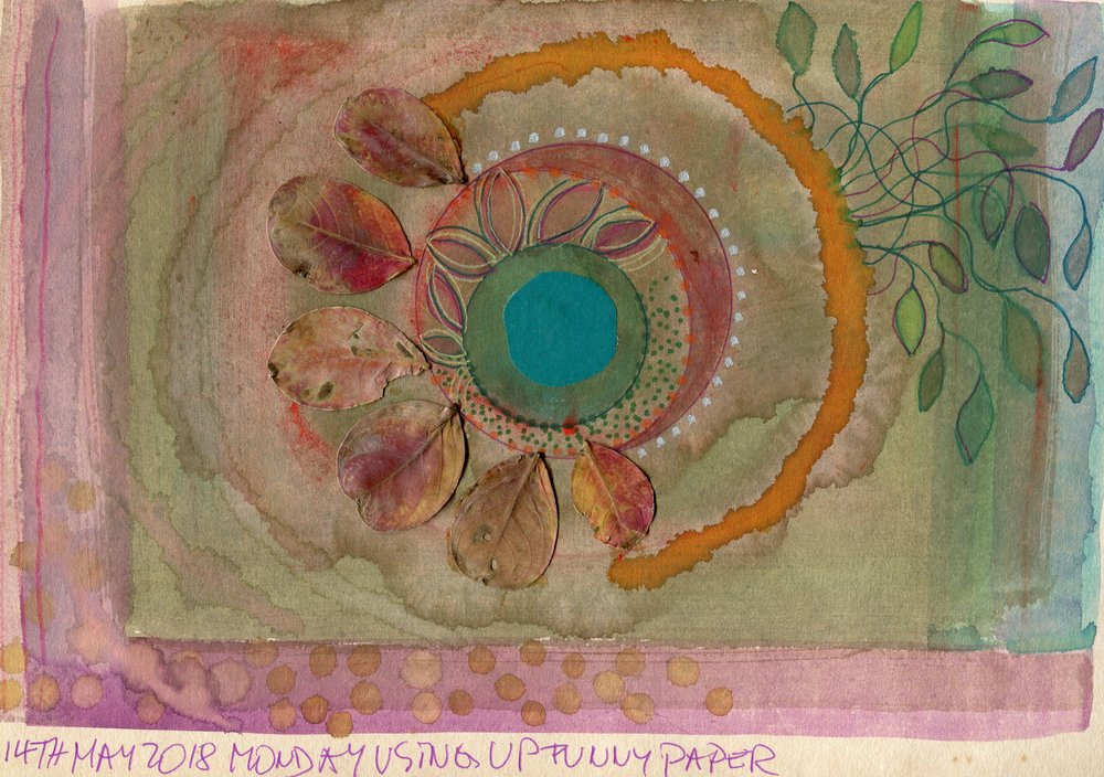 05A  Jutta Faulds  Mandala 1  mixed media on paper