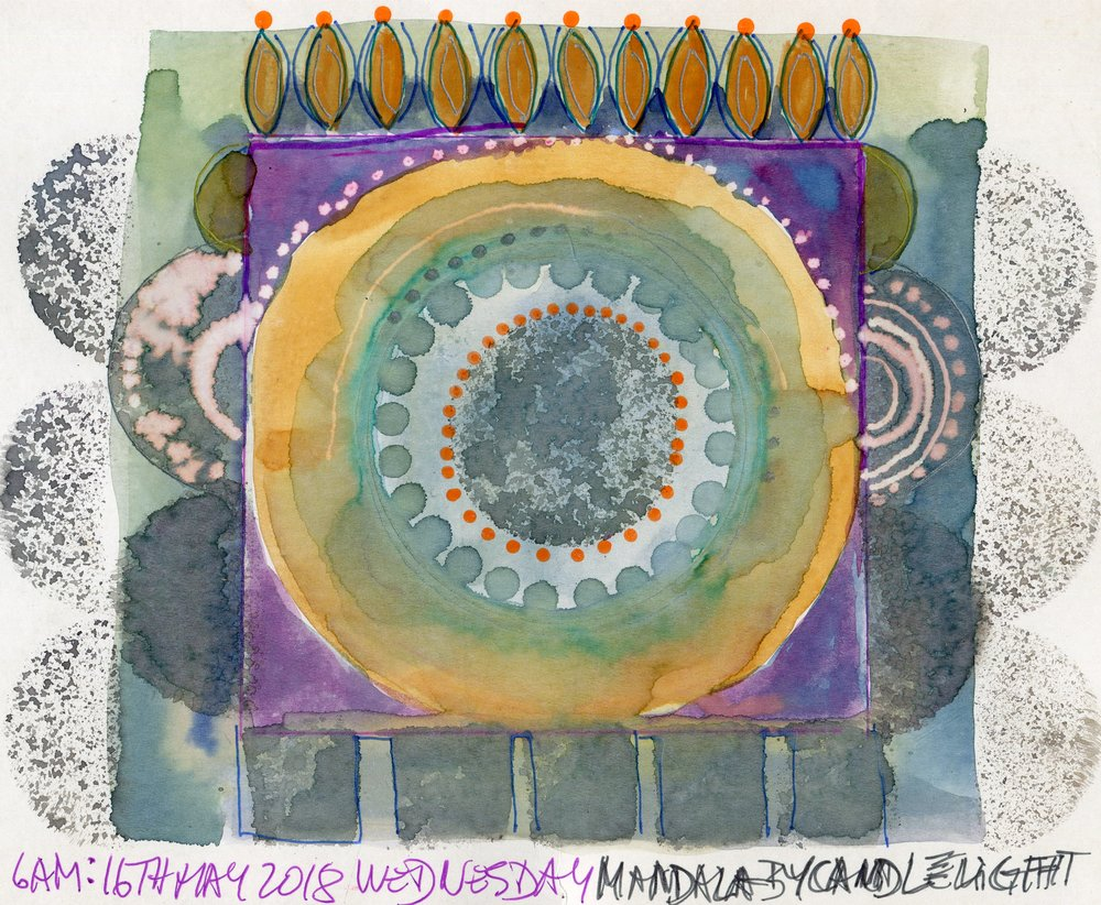 05B  Jutta Faulds  Mandala 2  mixed media on paper
