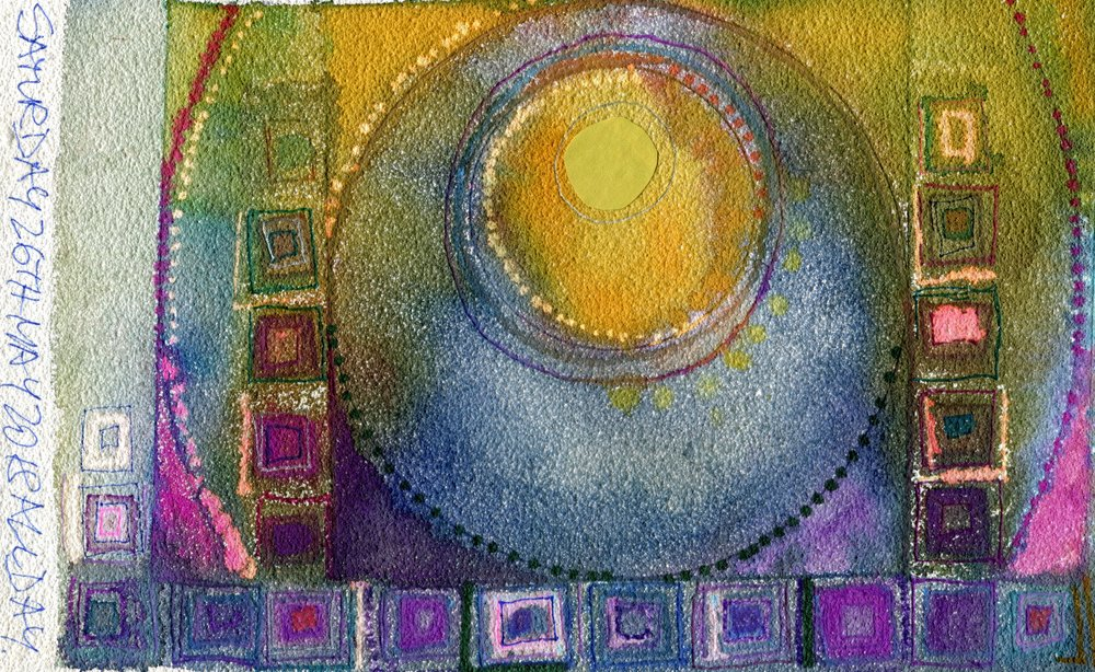 05C  Jutta Faulds  Mandala 3  mixed media on paper