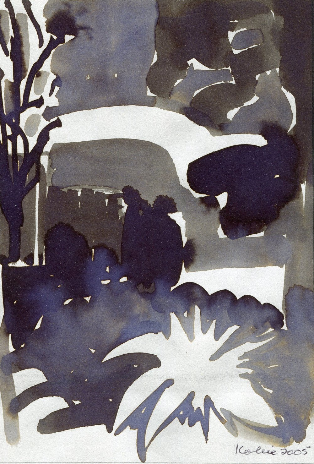 12B  Kobie Venter  My garden at night  ink on paper