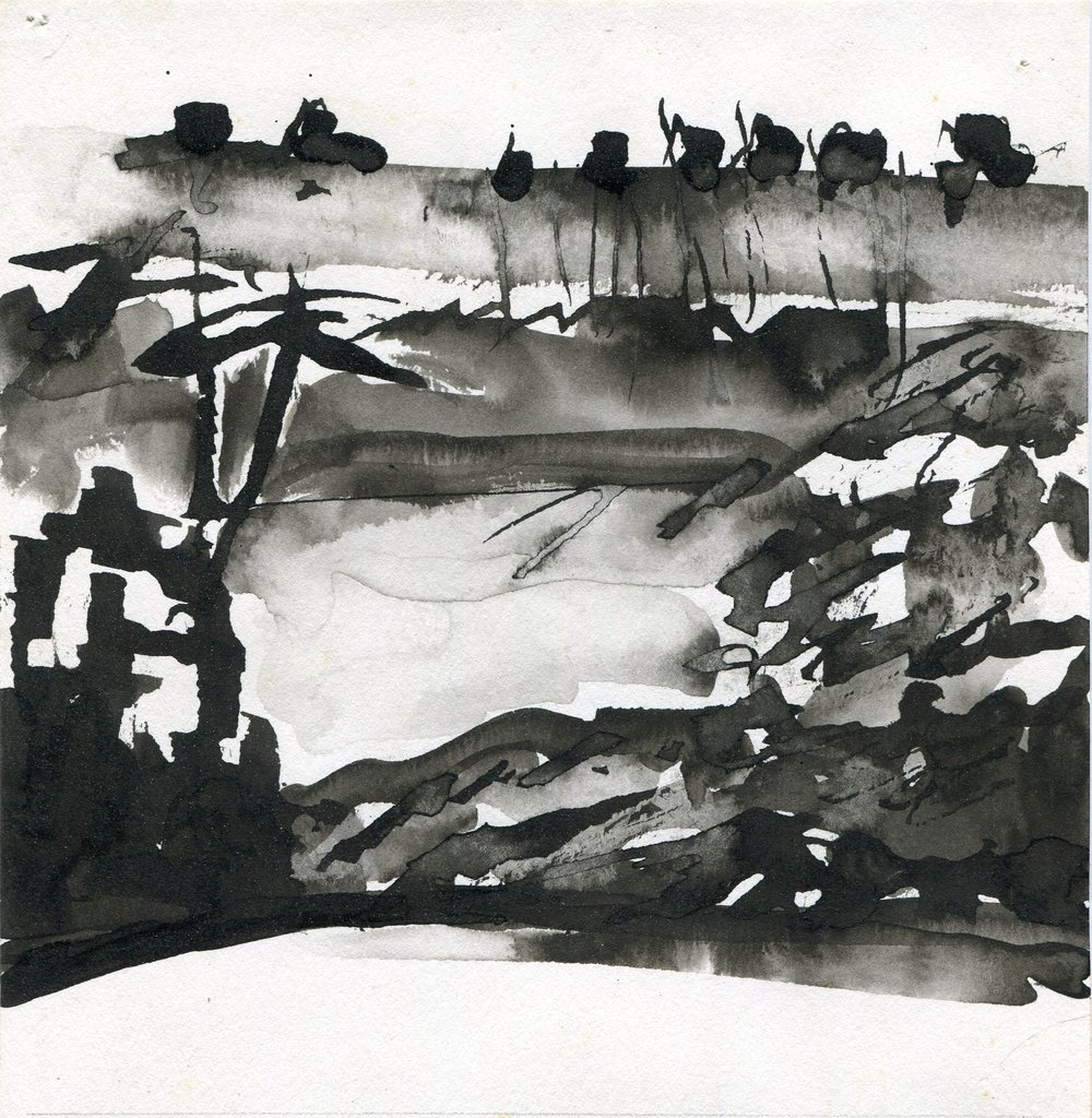 12C  Kobie Venter  Dam wall  ink on paper