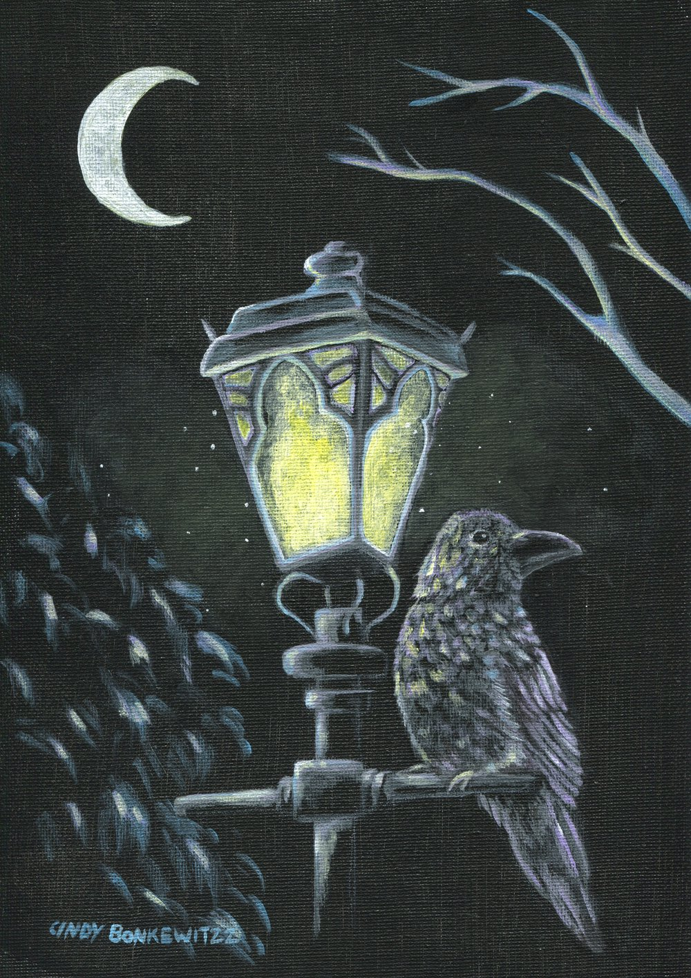 15A  Cindy Bonkewitzz  Night light  acrylic on canvas panel