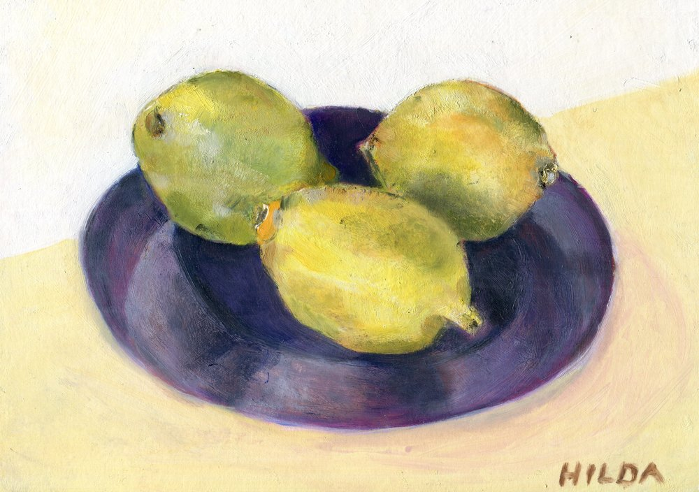 21A  Hilda Stuart-Hill  Lemons for Stuart  oil on board