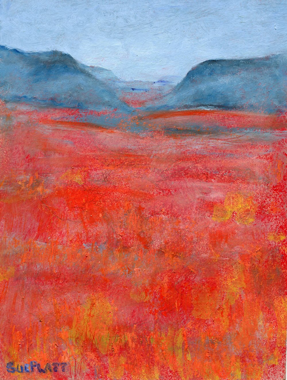 27B  Sue Platt  Red space  oil on board