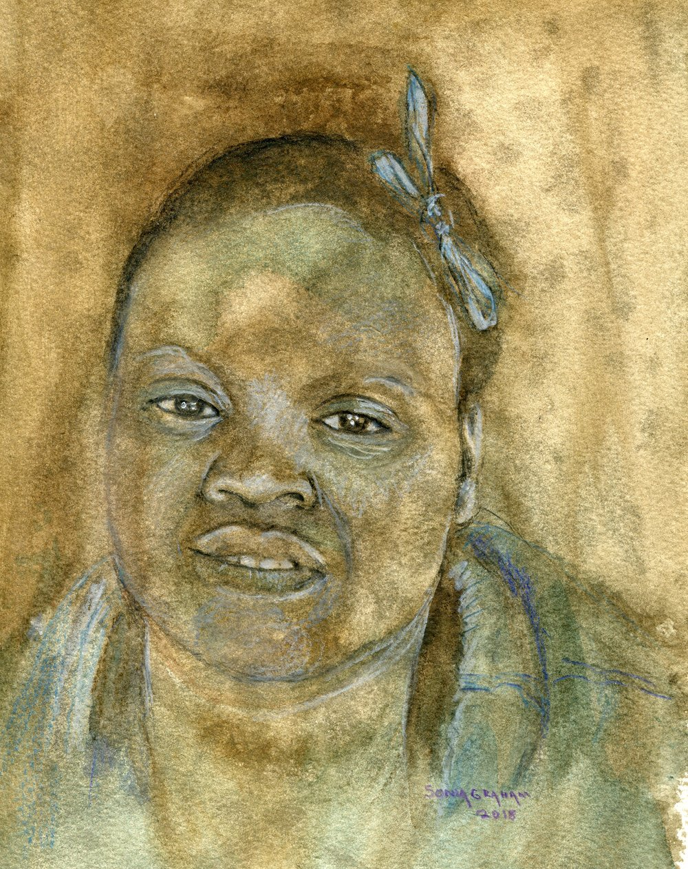 28C  Sonia Graham  Artist and model 3  watercolour on paper