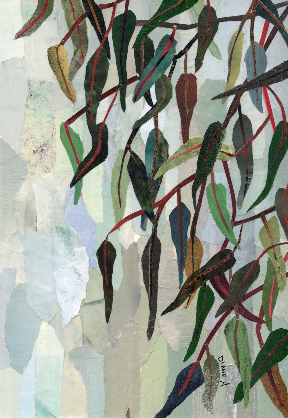 31A  Diane Aldworth  Leaves  paper collage on board