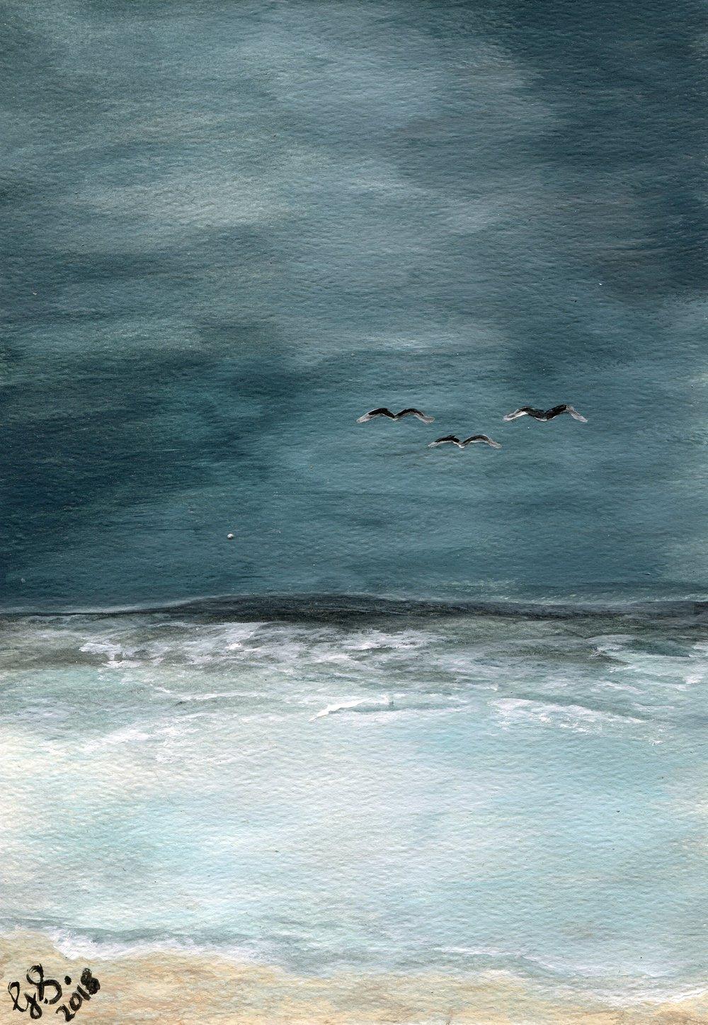 42a  Gerda Swanepoel  Stormy sky  acrylic on paper