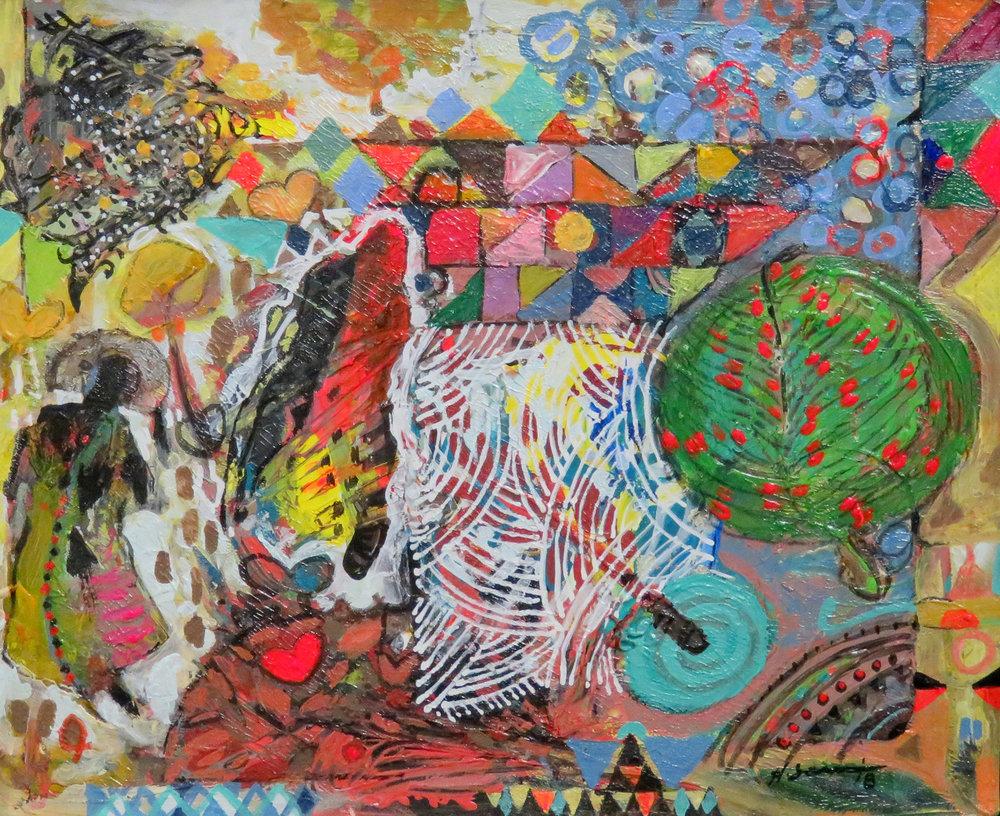 49b  Hussein Salim  Reconnect II  acrylic on paper