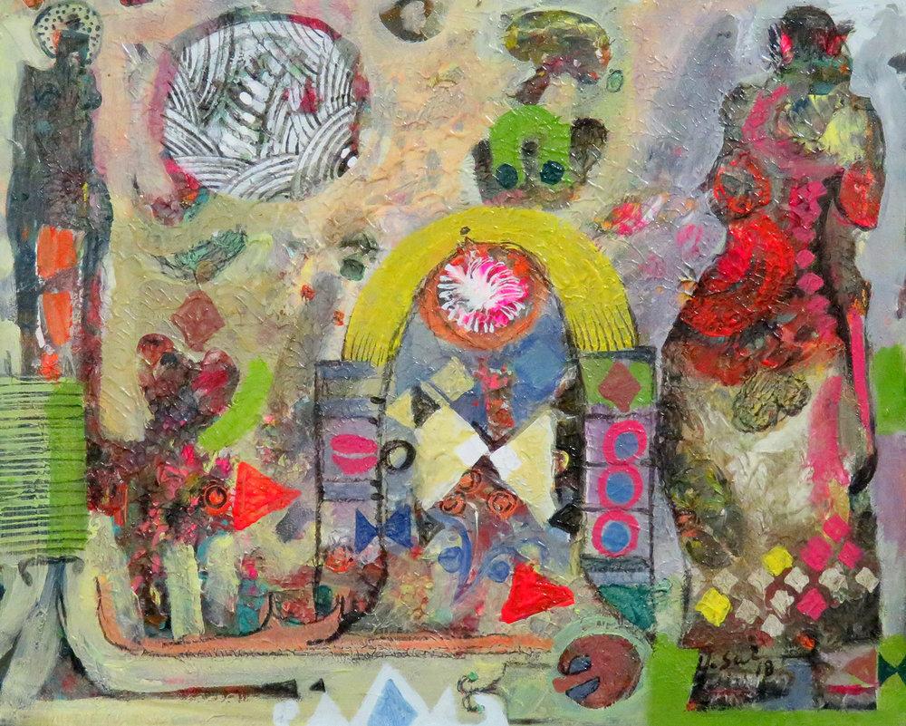 49d  Hussein Salim  Heritage II  acrylic on paper
