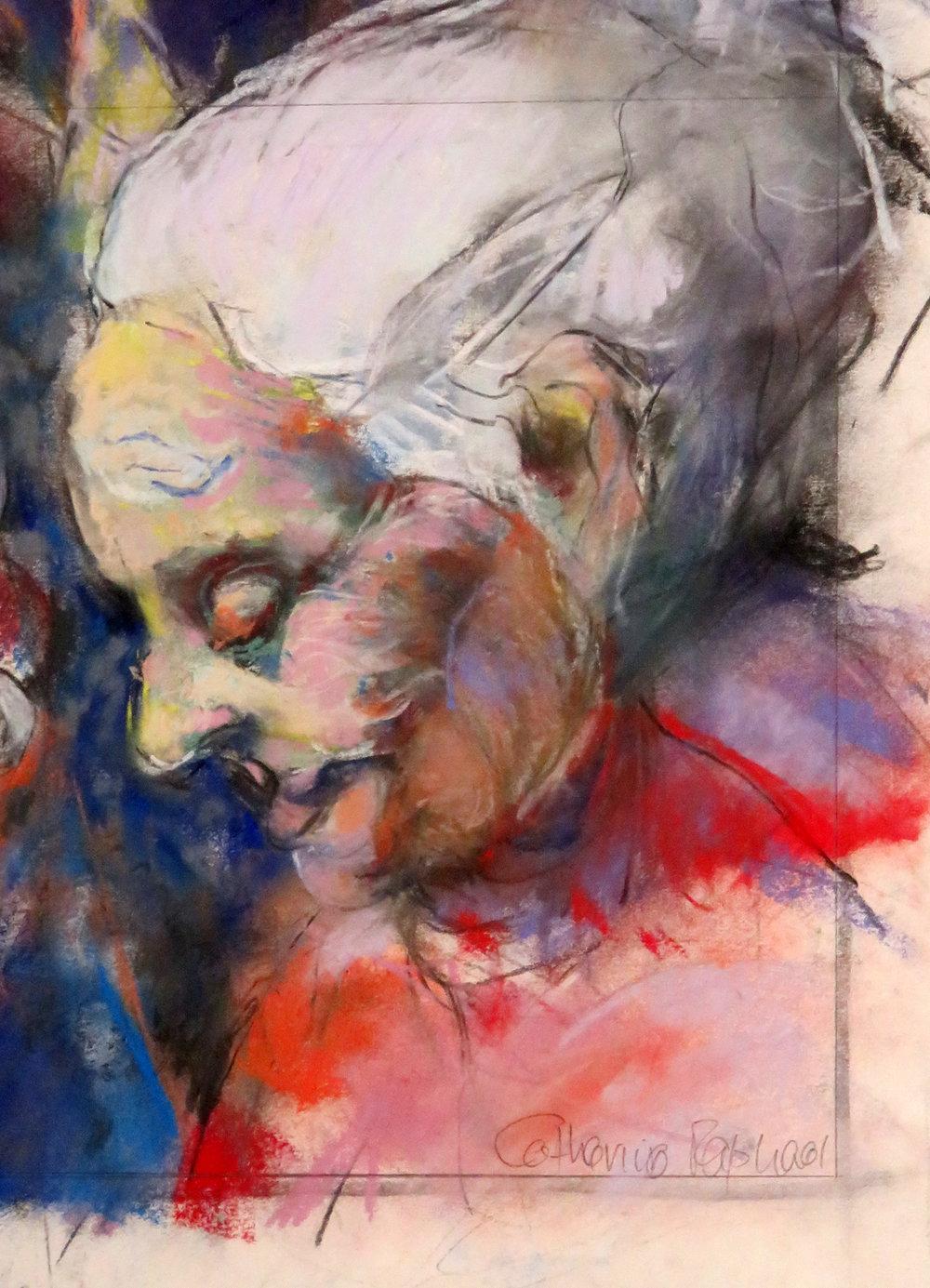 51c  Catherine Raphael  Lorraine  pastel on paper
