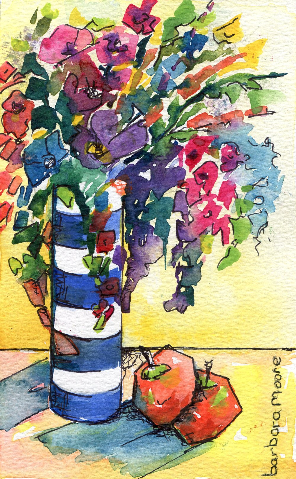 53b  Barbara Moore  Crazy spring  watercolour on paper