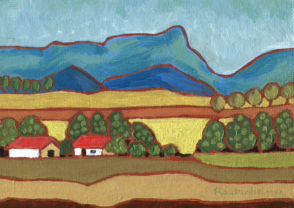 60a  Nardi Anne Raubenheimer  Farm near Inhlosane  acrylic on board