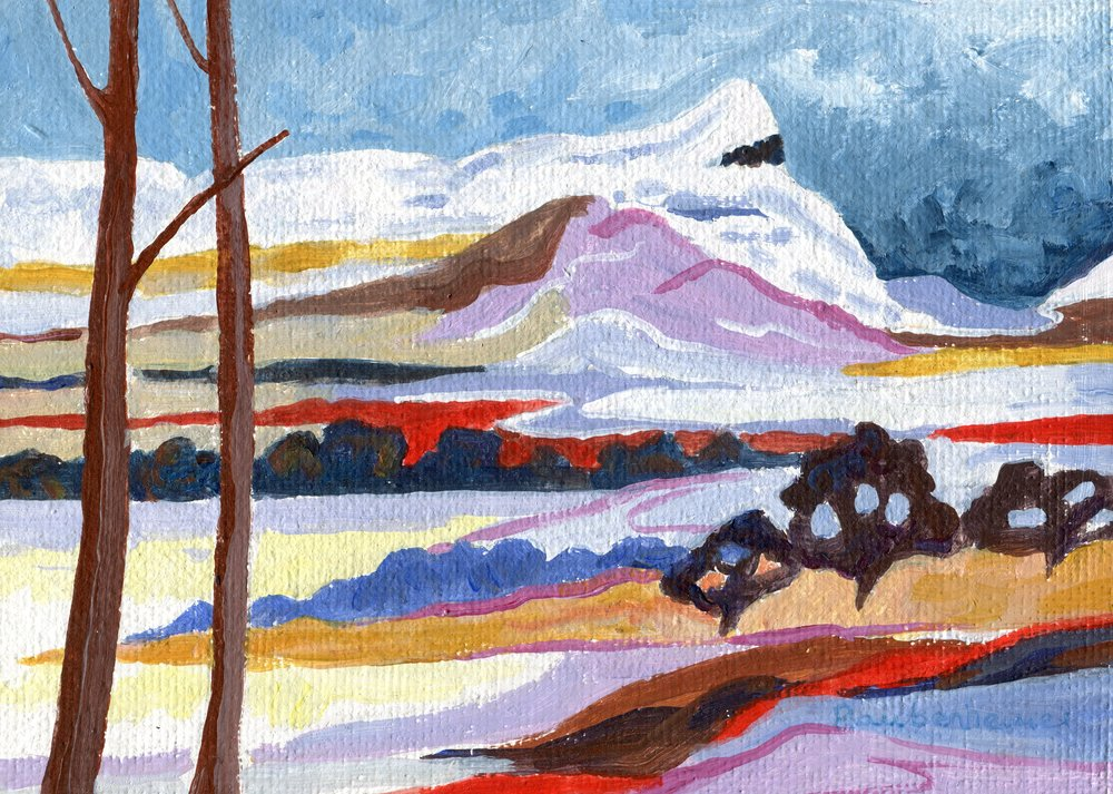 60b  Nardi Anne Raubenheimer  Snow on Inhlosane  acrylic on board