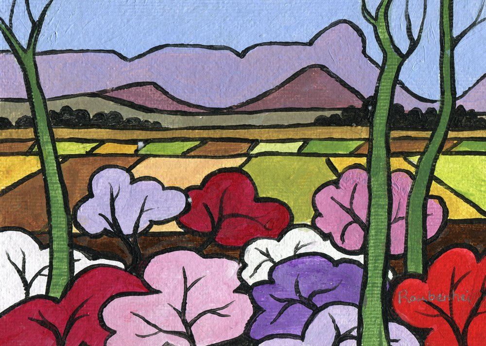 60c  Nardi Anne Raubenheimer  Azaleas near Inhlosane  acrylic on board