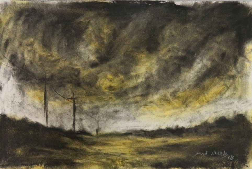 73b  Muzi Ndlela  A storm is coming 2  pastel and charcoal on paper