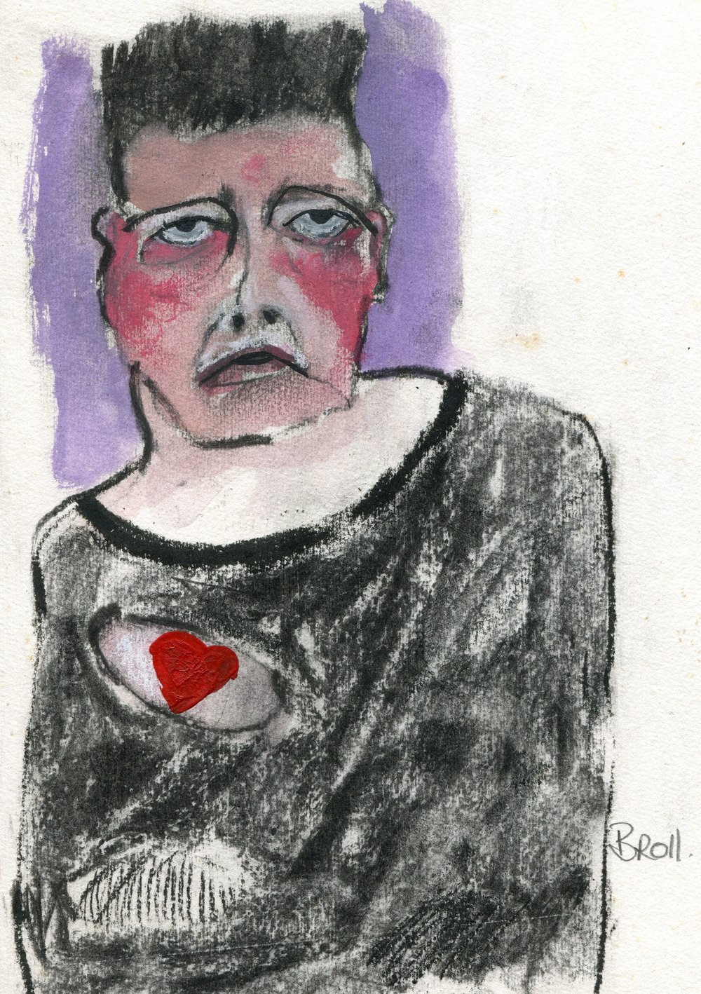 83a  Terri Broll  Hole in the heart  mixed media on paper