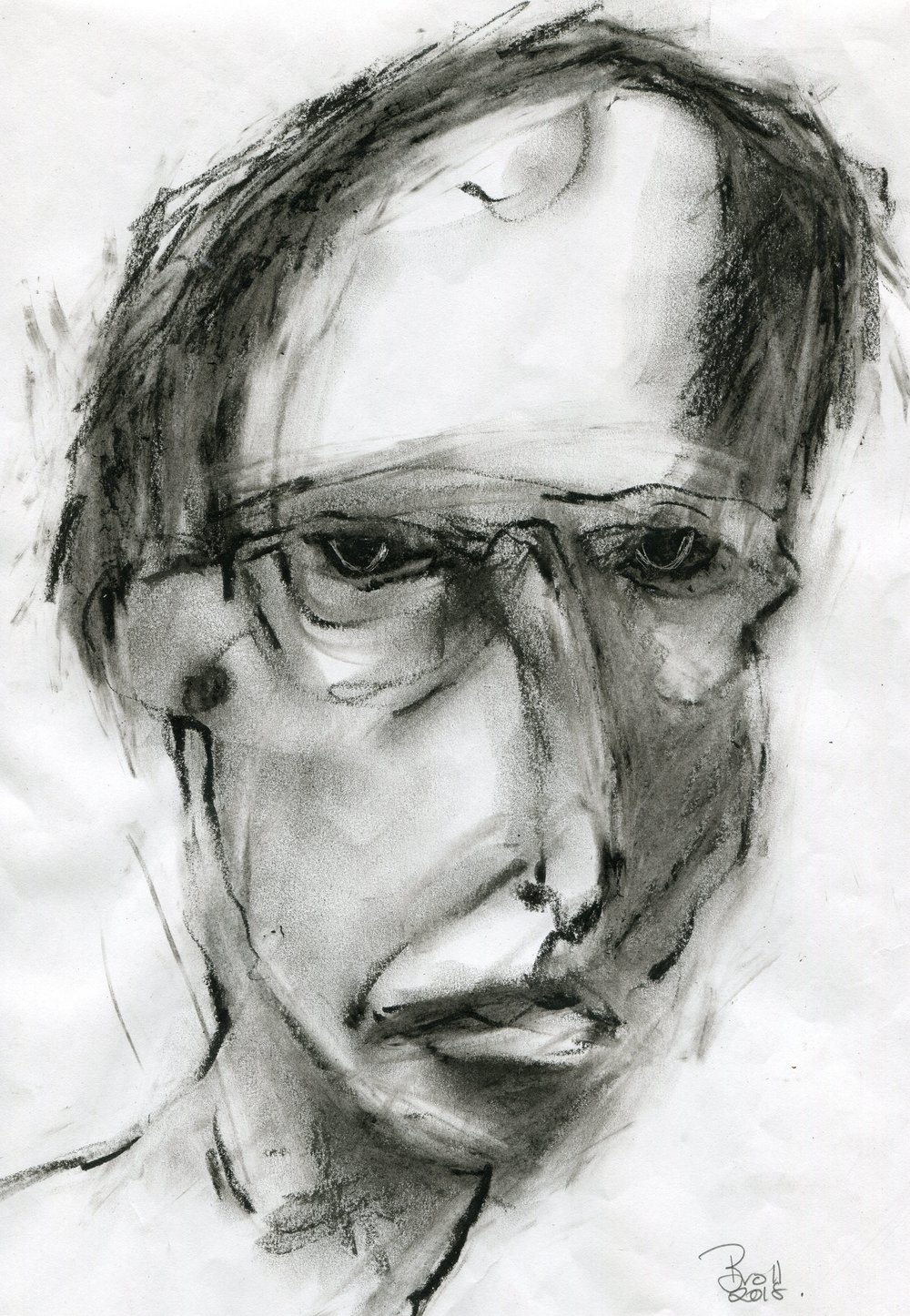 83b  Terri Broll  Just a boy  charcoal on paper