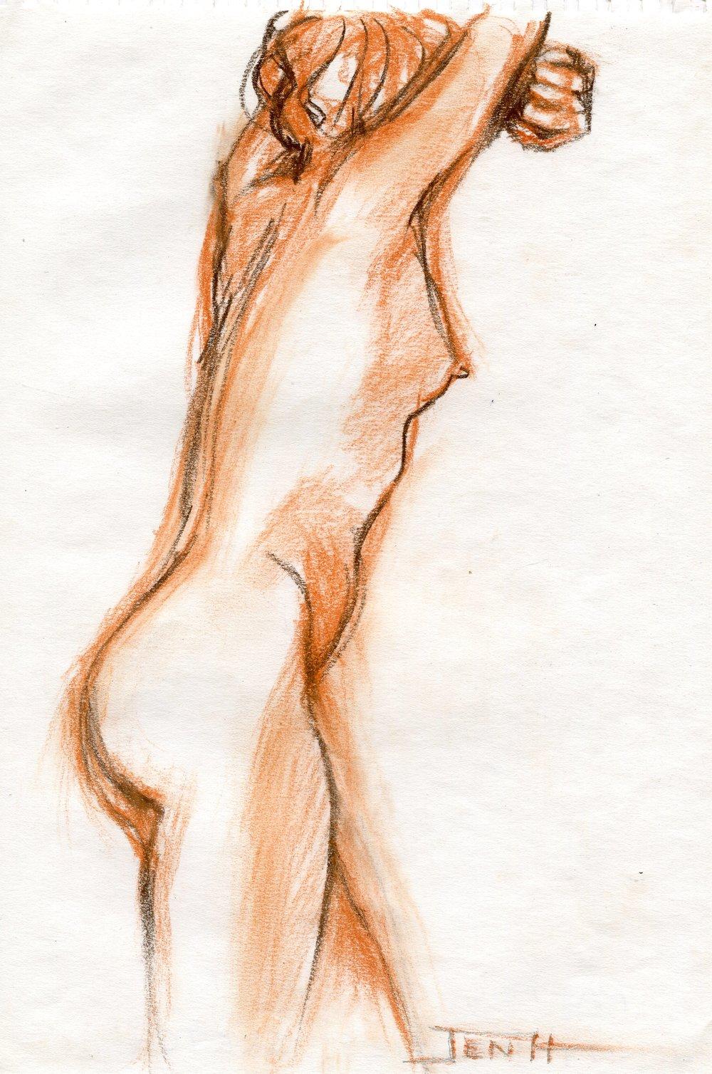 24b  Jenny Hallowes  Sketch  pastel on paper