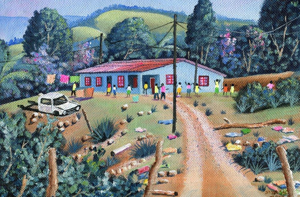 90b  Siyabonga Sikosana  Driveway  acrylic on canvas