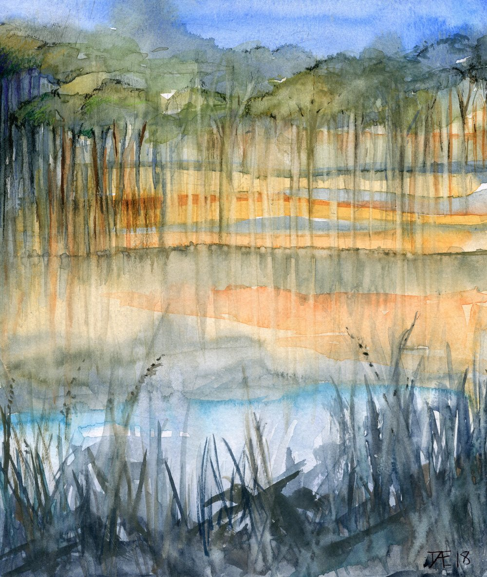 94a  Doret Ege  Reflections  watercolour on paper