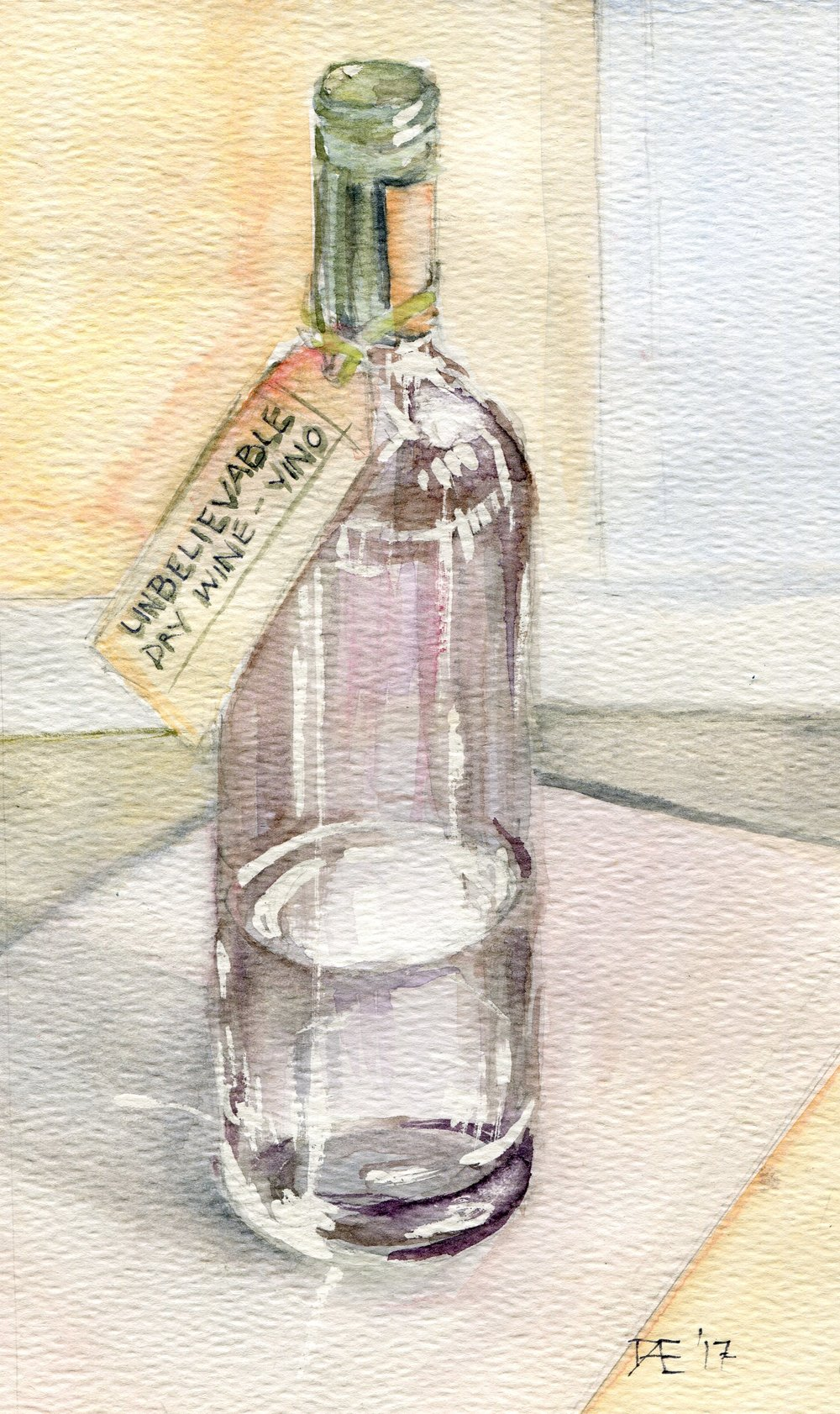 94d  Doret Ege  Vino  watercolour on paper