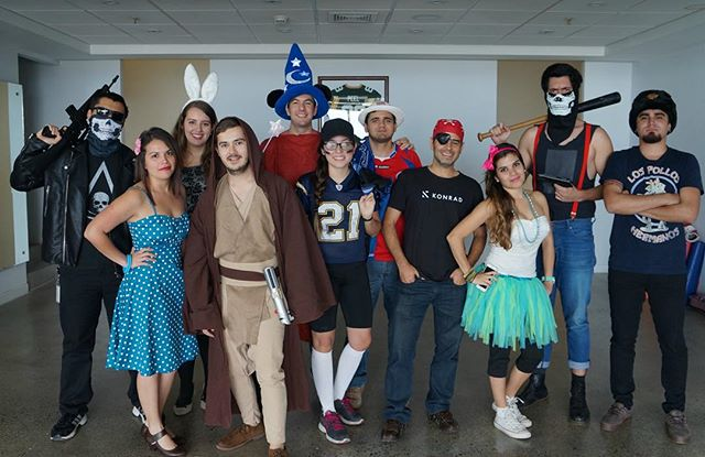 Boo! Happy Friday! Who in our Costa Rica Office has the best costume? 🎃 #halloween #spirit #costume #party