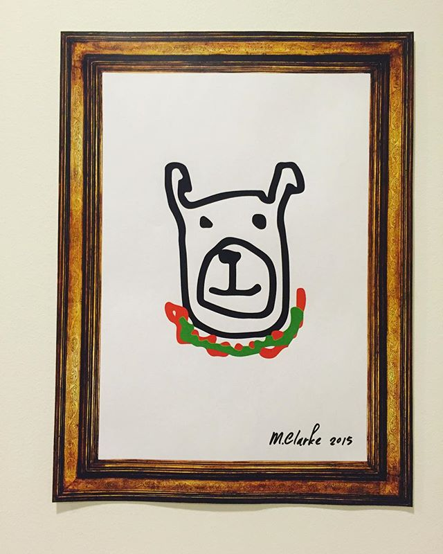 Gchat illustration by our very own M. Clarke  #illustration #chat #dog #drawing #frame #picture #tech