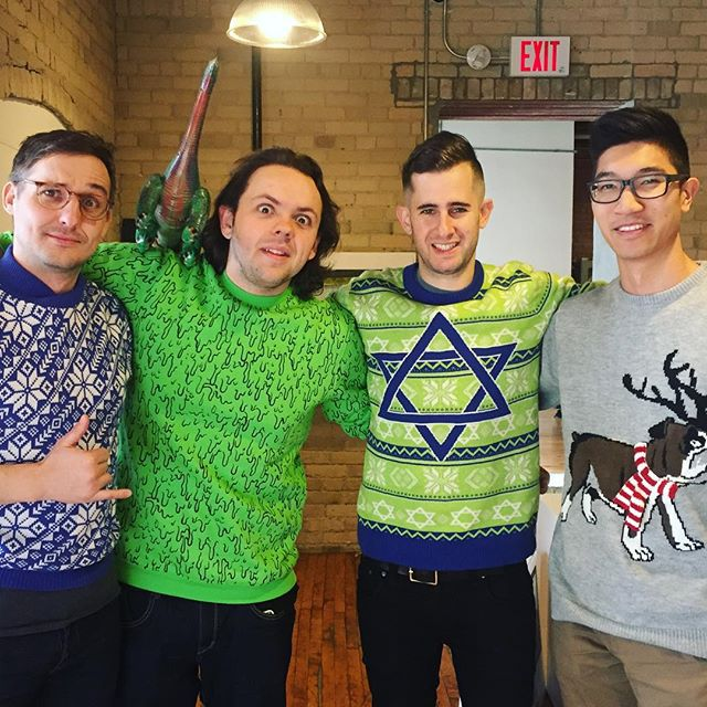 Ugly sweaters on the reg.  #sweater #christmas #design #tech