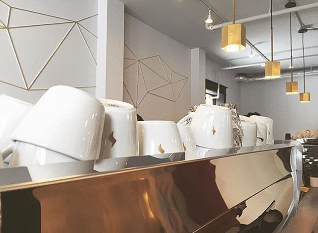 Konrad designers recently created a wall installation for @quantumcoffeeco - photo cred @m4ndyc4ndy