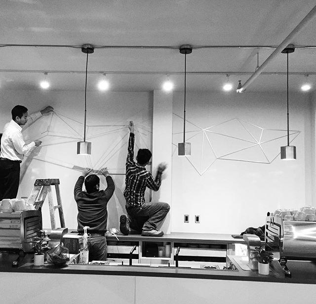 5am install @quantumcoffeeco last week.  #wallart