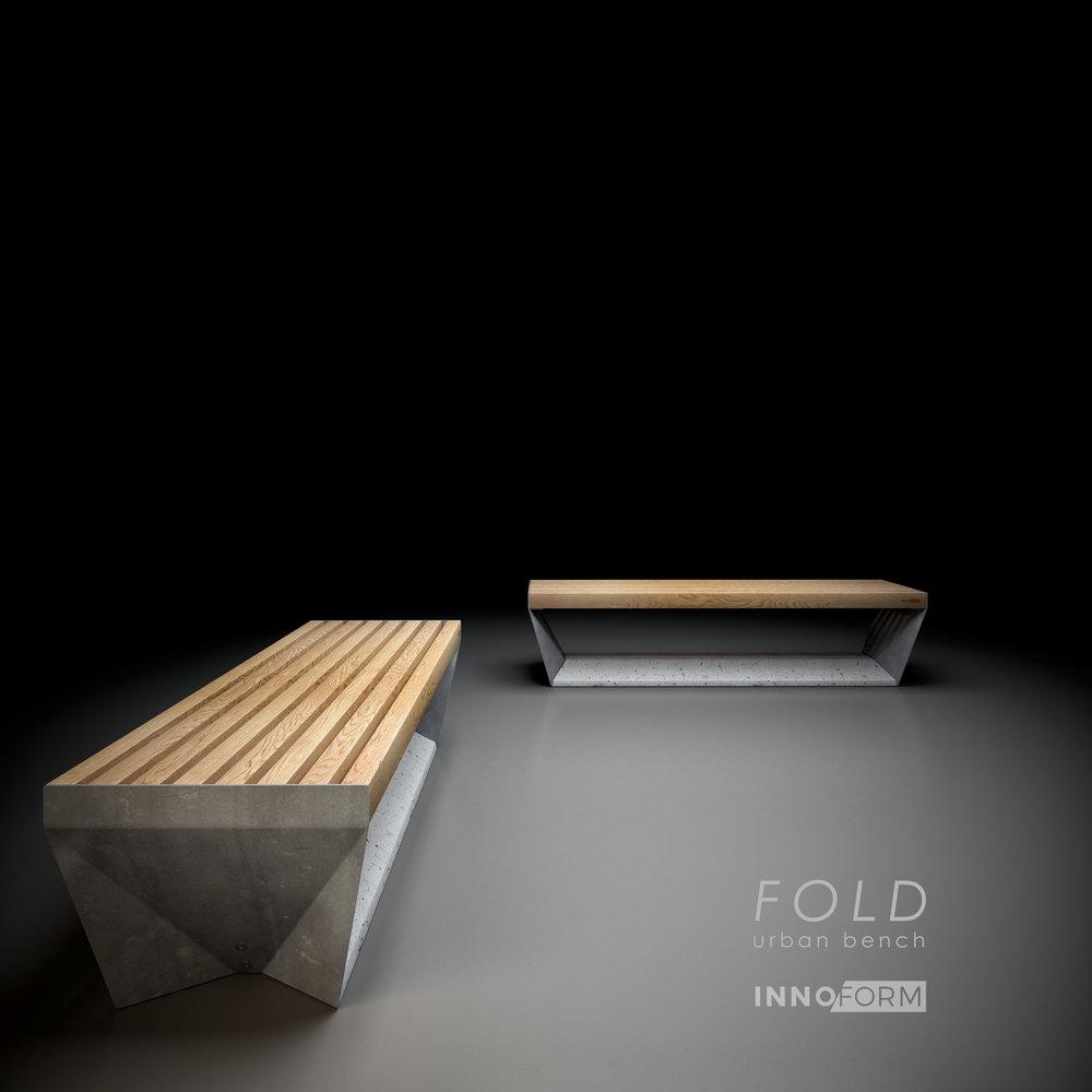 FOLD urban bench, av INNOFORM